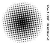 halftone circle vector logo... | Shutterstock .eps vector #356417906