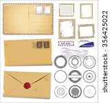 set of post stamp symbols | Shutterstock .eps vector #356425022