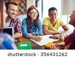 happy teens spending leisure in ... | Shutterstock . vector #356431262