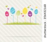 lovely easter design | Shutterstock .eps vector #356432168