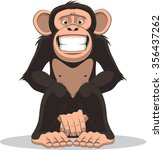 funny little monkey | Shutterstock .eps vector #356437262