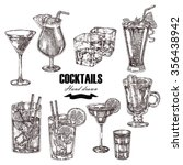 set of alcoholic cocktails.... | Shutterstock .eps vector #356438942