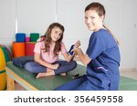 physical therapy for injury... | Shutterstock . vector #356459558