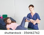 physical therapist  giving  a ... | Shutterstock . vector #356462762