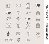 valentines day icon set | Shutterstock .eps vector #356463782
