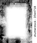 halftone grunge frame | Shutterstock . vector #3564718
