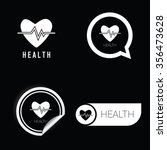 health icon vector in black and ... | Shutterstock .eps vector #356473628