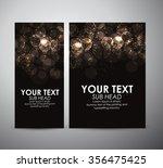 abstract gold circle bokeh.... | Shutterstock .eps vector #356475425