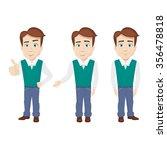 businessman | Shutterstock .eps vector #356478818
