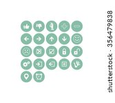 function icon set  turquoise | Shutterstock .eps vector #356479838