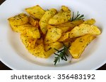roasted potato with dill and... | Shutterstock . vector #356483192