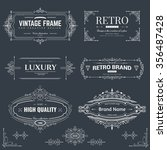 collection of vintage patterns.... | Shutterstock .eps vector #356487428