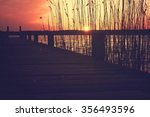 jetty at sunset | Shutterstock . vector #356493596