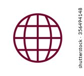globe   icon   isolated. flat ... | Shutterstock .eps vector #356494148