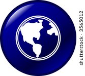 earth button | Shutterstock .eps vector #3565012