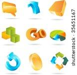 3d design elements | Shutterstock .eps vector #35651167
