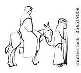 Maria And Joseph With Donkey