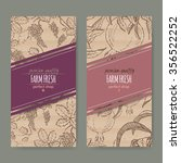 set of 2 labels with grape and... | Shutterstock .eps vector #356522252