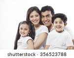 portrait of a family | Shutterstock . vector #356523788