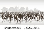 silhouettes of refugees people... | Shutterstock .eps vector #356528018