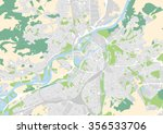 vector city map of metz  france | Shutterstock .eps vector #356533706
