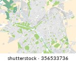 vector city map of reims  france | Shutterstock .eps vector #356533736