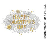 happy valentine's day design.... | Shutterstock .eps vector #356543666