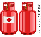 Propane Gas Cylinder   Vector...
