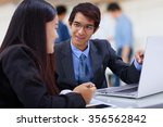 closeup business partners... | Shutterstock . vector #356562842