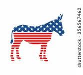 american democrat mule vector | Shutterstock .eps vector #356567462