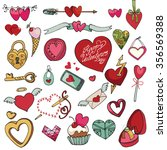 valentine's day hearts... | Shutterstock . vector #356569388