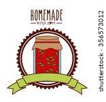 homemade jam design  vector... | Shutterstock .eps vector #356573012