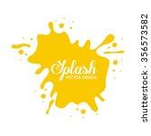 splash concept design  vector...   Shutterstock .eps vector #356573582