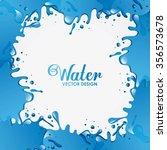 splash concept design  vector... | Shutterstock .eps vector #356573678