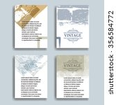 vintage set of poster templates....   Shutterstock .eps vector #356584772