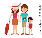 family colorful cartoon graphic ... | Shutterstock .eps vector #356588588