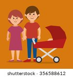 family colorful cartoon graphic ... | Shutterstock .eps vector #356588612