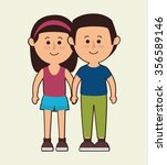 family colorful cartoon graphic ... | Shutterstock .eps vector #356589146