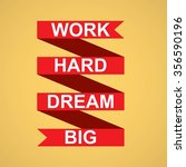 motivation banner on yellow... | Shutterstock . vector #356590196