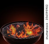 barbecue grill on black... | Shutterstock . vector #356595902