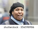 Small photo of NEW YORK CITY - DECEMBER 29 2015: Activists with the NY Revolutionary Club gathered in Union Square to protest a grand jury's failure to indict in the death of Tamir Rice. Reverend Janet LaFontaine