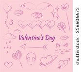set sketch valentine's day | Shutterstock .eps vector #356606672