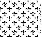 fleur de lis seamless vector...   Shutterstock .eps vector #356612552