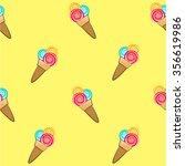 seamless vector ice cream...   Shutterstock .eps vector #356619986