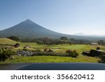 view of agua volcano outside... | Shutterstock . vector #356620412