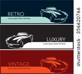 retro vintage luxury cars... | Shutterstock .eps vector #356620766