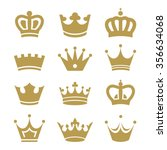 crown icons isolated on white... | Shutterstock .eps vector #356634068