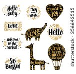 hand drawn baby lettering... | Shutterstock .eps vector #356643515