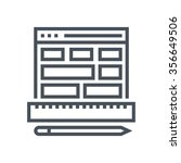 wireframe  responsive icon...