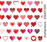 seamless pattern with hearts  | Shutterstock .eps vector #356657405